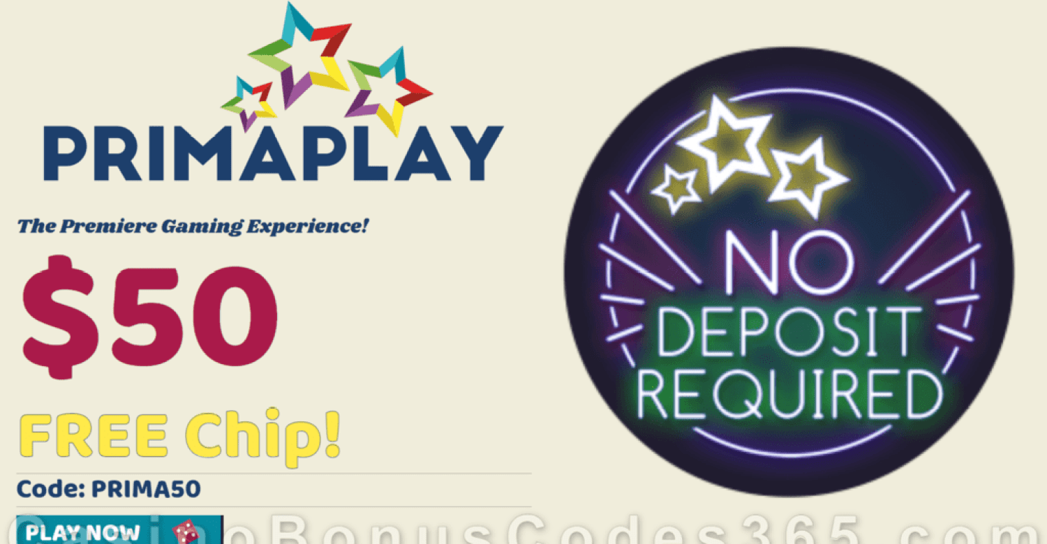 Prima Play Try Before you Buy $50 No Deposit FREE Chip