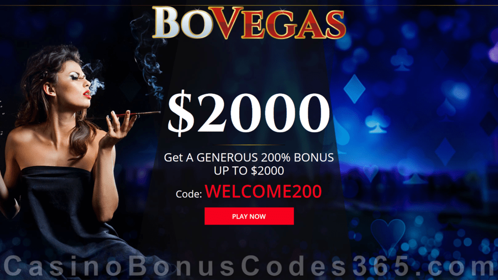 BoVegas Casino 200% Up to $2000 Welcome Bonus