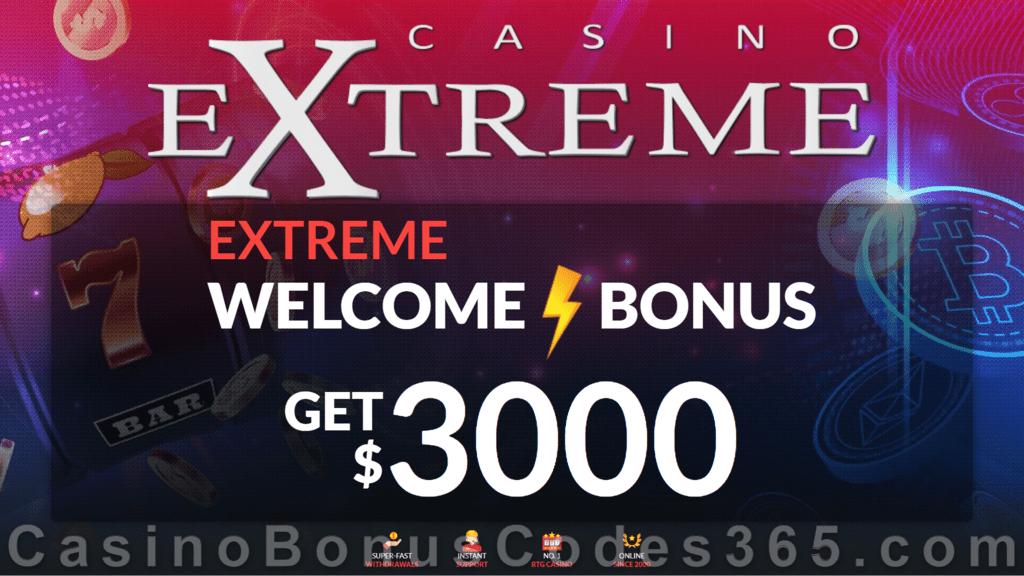 Casino Extreme $3000 Welcome Bonus