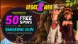 Vegas2Web Casino 50 FREE Rival Gaming Smoking Gun Spins Exclusive No Deposit Offer