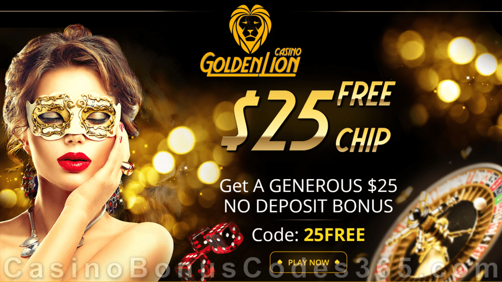 Golden Lion Casino $25 No Deposit FREE Chips