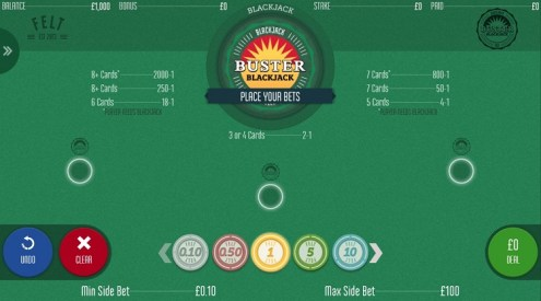blackjack with buster bet