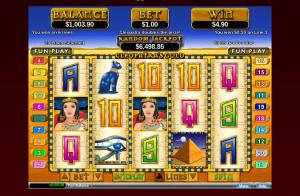 Cleopatra's Gold Slot Win Payline
