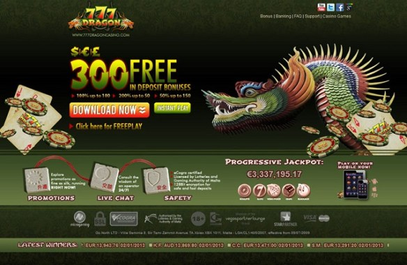 777 Dragon Casino Casinobonus