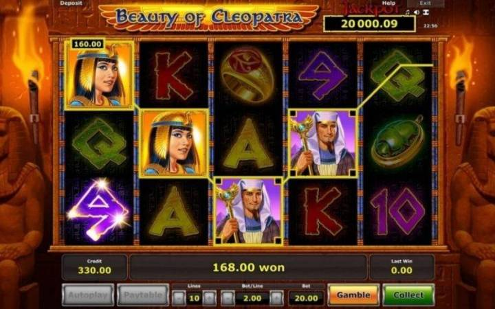 #Beauty of Cleopatra #faraoni #piramide #Meridian online casino