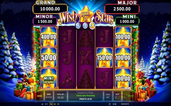 Wish Upon a Star, Online Casino Bonus, Slot, Gamble