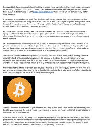 Automaty do gry bitcoin o wartości 100 $