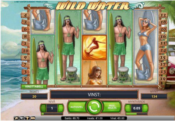 Wild Water vinst 6,7 euro