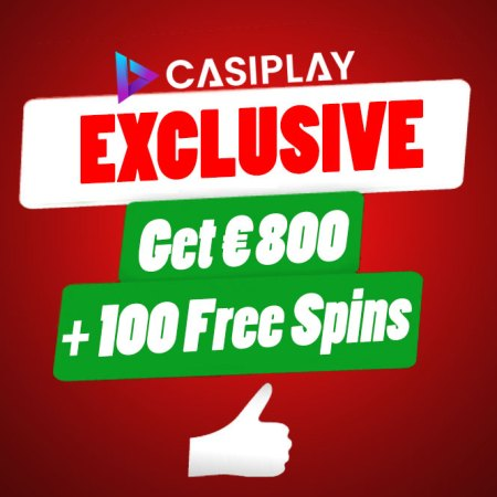 ONLY TODAY – An exclusive offer – UP TO € 800 + 100 Extra Spins