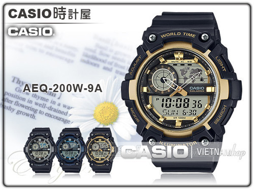 Đồng hồ nam Casio AEQ-200W-9AV
