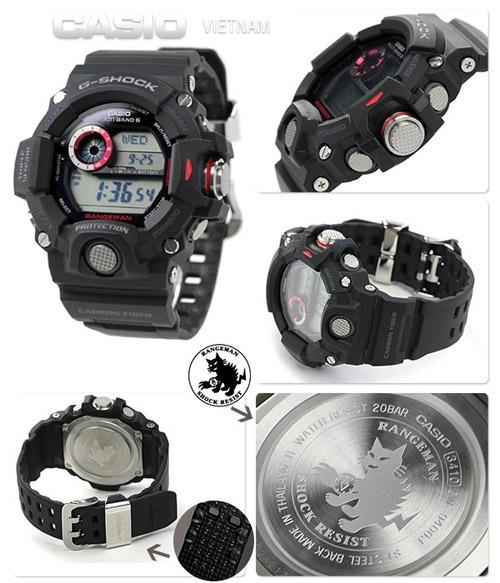 Đồng hồ Casio G-Shock GW-9400-1DR Hầm hố đẳng cấp