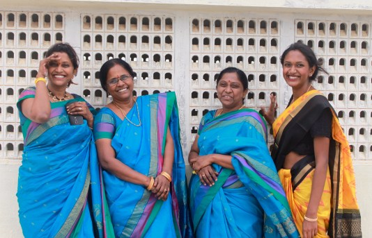 Wearing sarees with family for a cultural event a couple weeks ago.