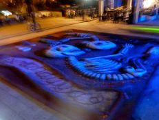 Tapete de arena (sand painting), Plaza de la Danza. Oct. 30, 2013.