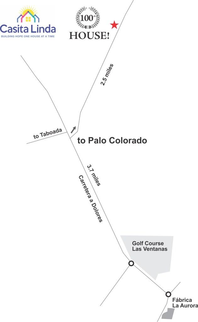 Casita Lionda mapa casa100