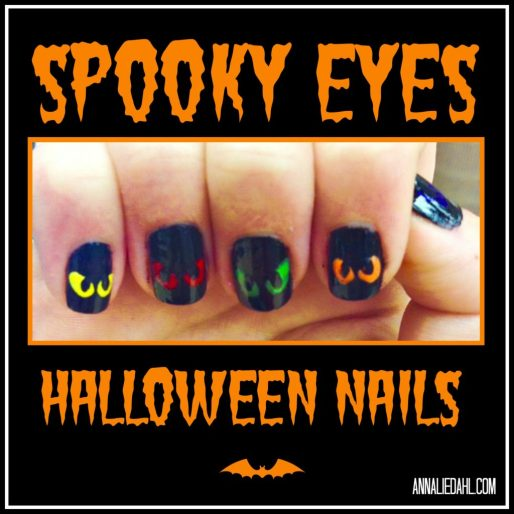 Spooky Eyes Halloween Nails
