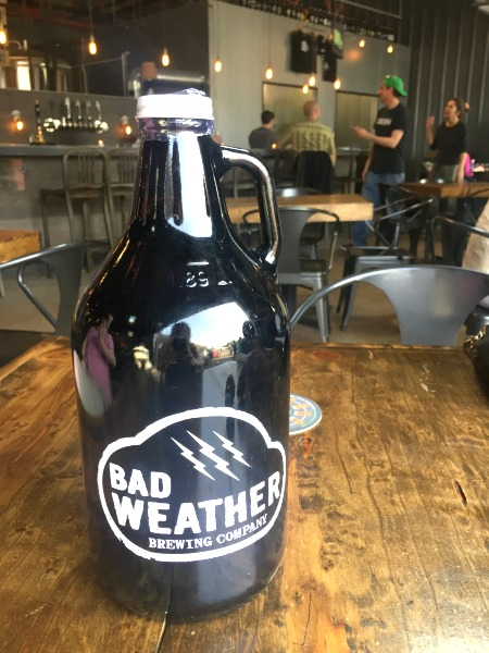 growler from bad weather brewing