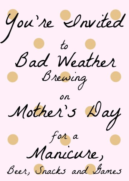 mother's day invitation