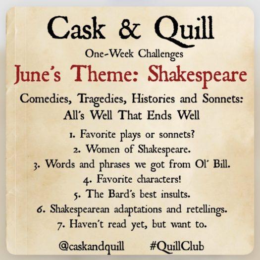 Cask & Quill Shakespeare Book Instagram Challenge