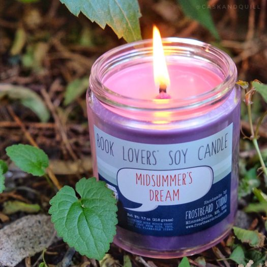 Frostbeard Studio Midsummer's Dream bookish candle inspired by Shakespeare