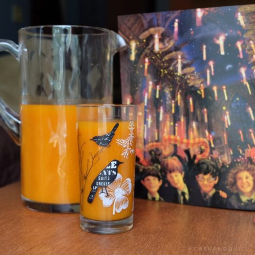Harry Potter pumpkin juice in the great hall