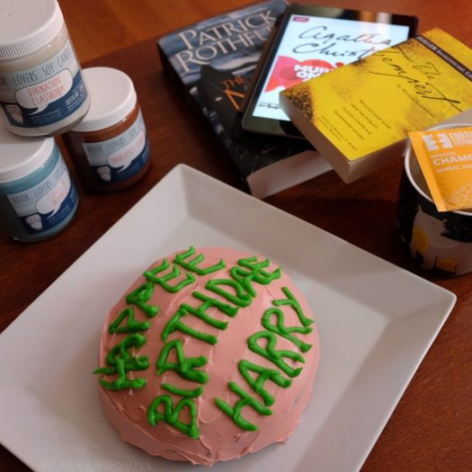 Summer Cosy Reading Night books, Harry Potter birthday cake