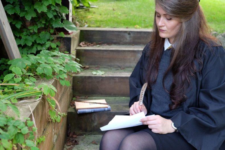 Doing transfiguration homework at Hogwarts