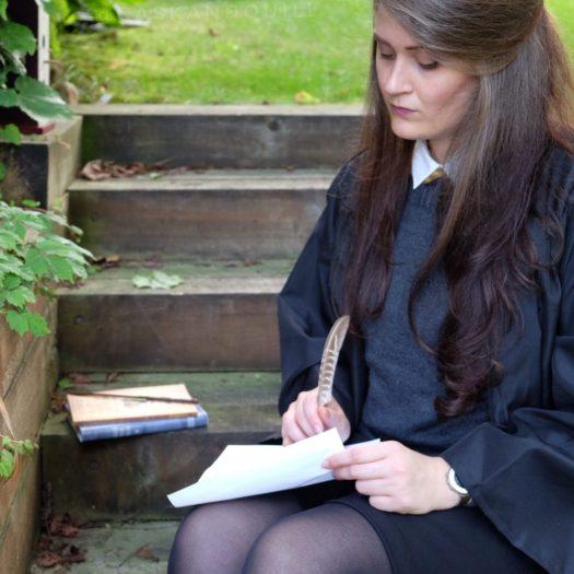 Doing homework at Hogwarts