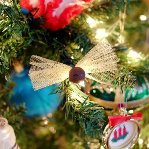 DIY Professor Flitwick fairy Christmas ornament from Harry Potter