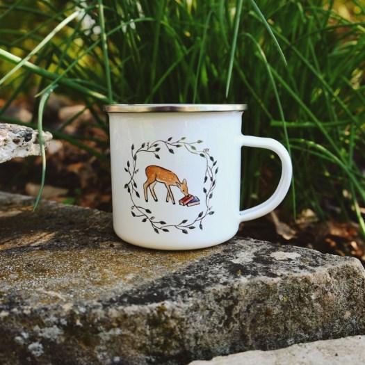 Cask & Quill Woodland Friends deer camp mug
