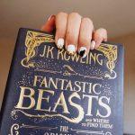 Niffler nail art, inspired by Fantastic Beasts