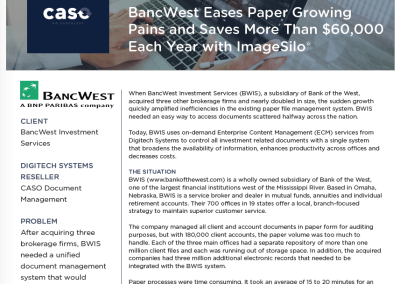 BancWest Investment Services Case Study