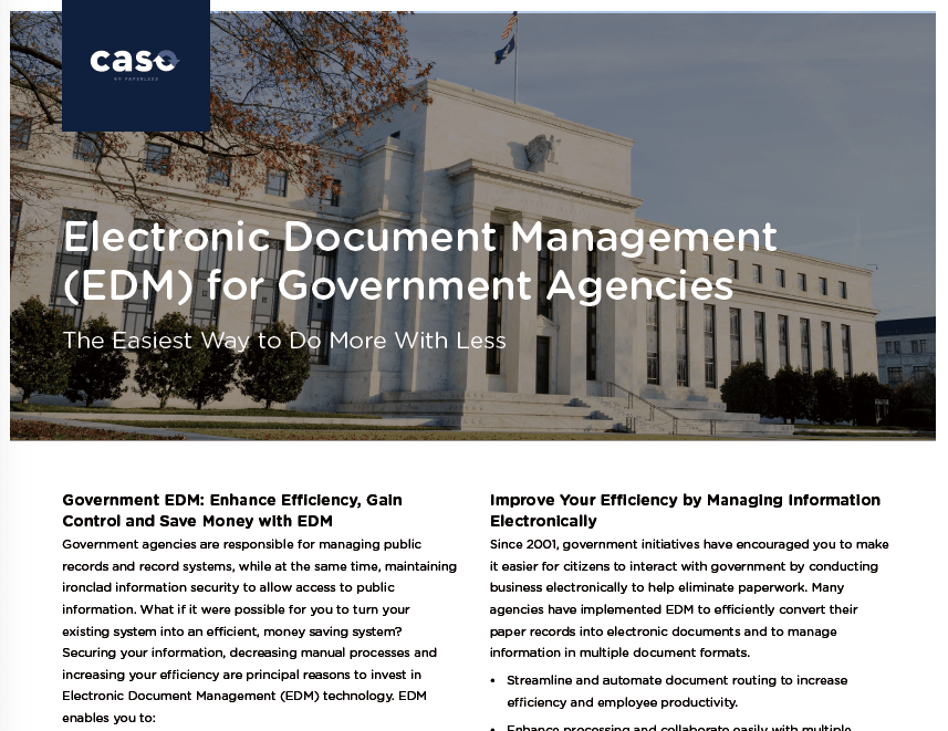 Electronic Document Management (EDM) for Government Agencies