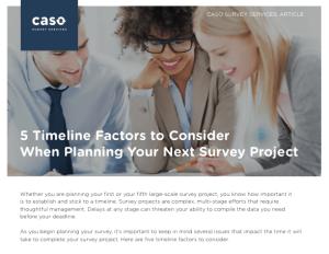 timeline survey