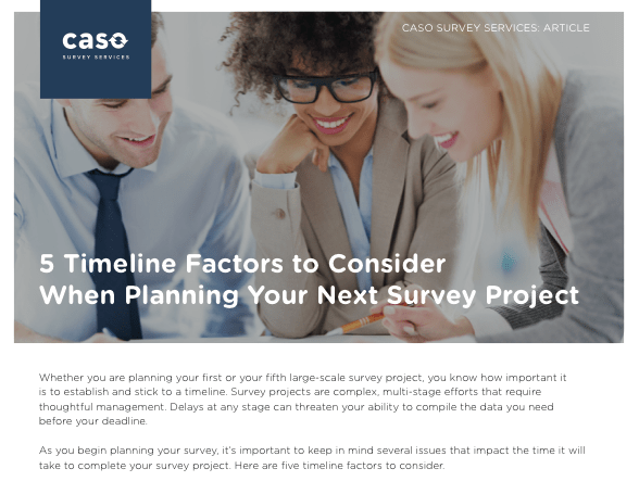 Article: 5 Timeline Tips for Surveys