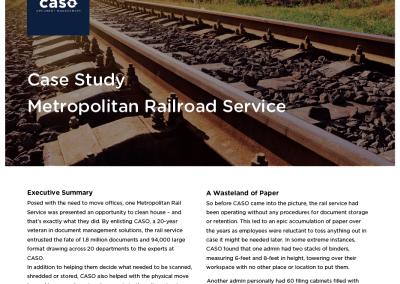 Metropolitan Railroad Service Case Study