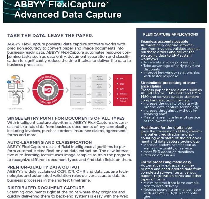 ABBYY Flexicapture Data Sheet