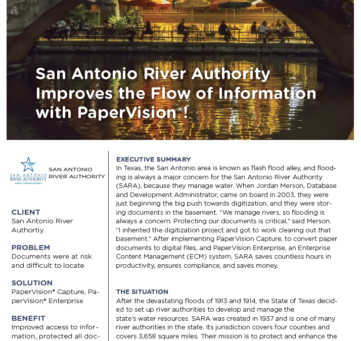 San Antonio River Authority Case Study