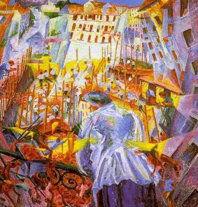 The Street Enters the House, 1911, Umberto Boccioni (1882-1916), Sprengel-Museum, Hannover