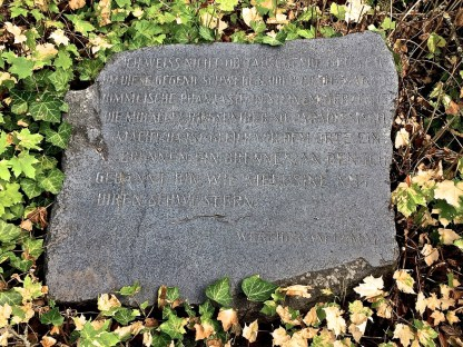 Gedenktafel am Goethebrunnen (© casowi)