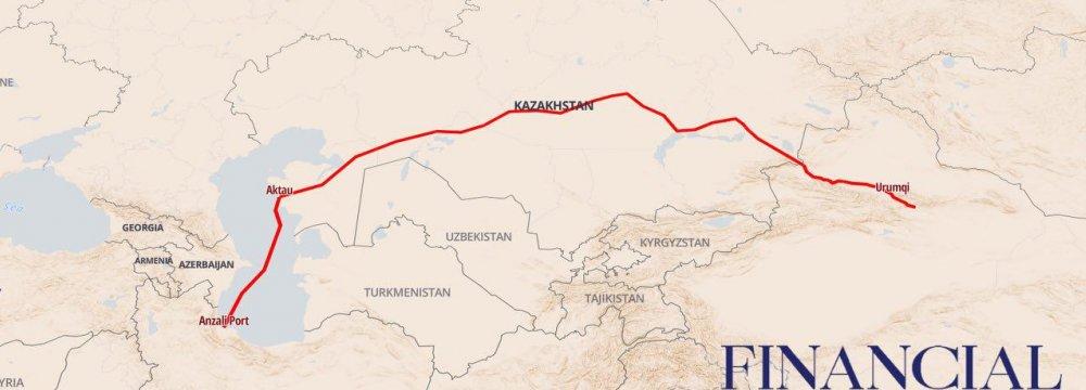 На восточном побережье Каспийского моря осваивают новые варианты транзита китайских грузов