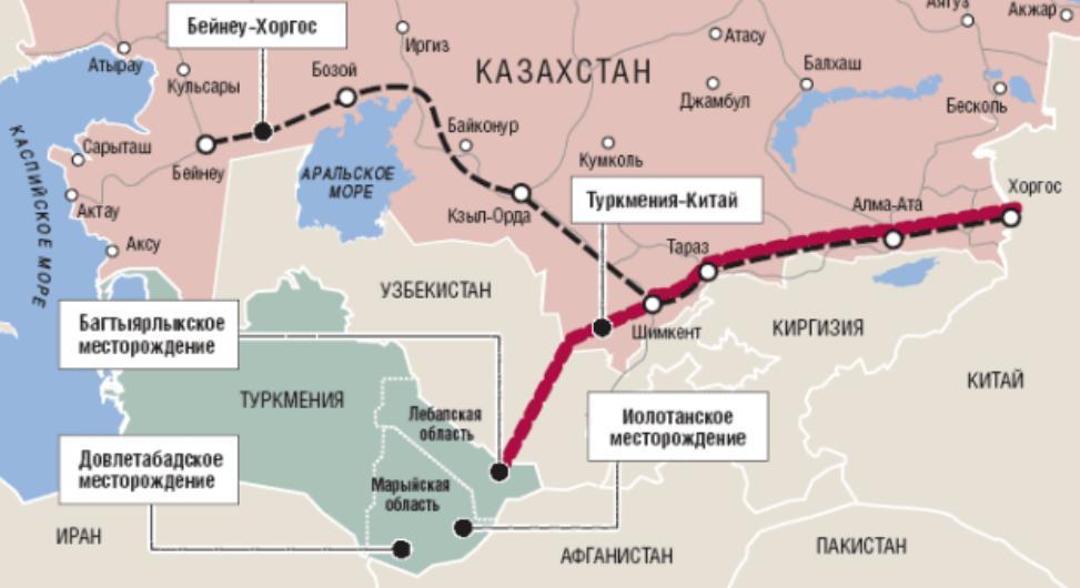 Поставки природного газа в Китай из Каспийского региона продолжают расти