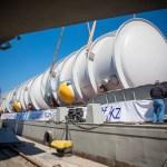 Компания Казмортрансфлот  доставляет  негабаритные грузы в  Атырау из Черного моря