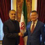 Кирсан Илюмжинов и Казем Джалали обсудили проект коридора «Север-Юг»