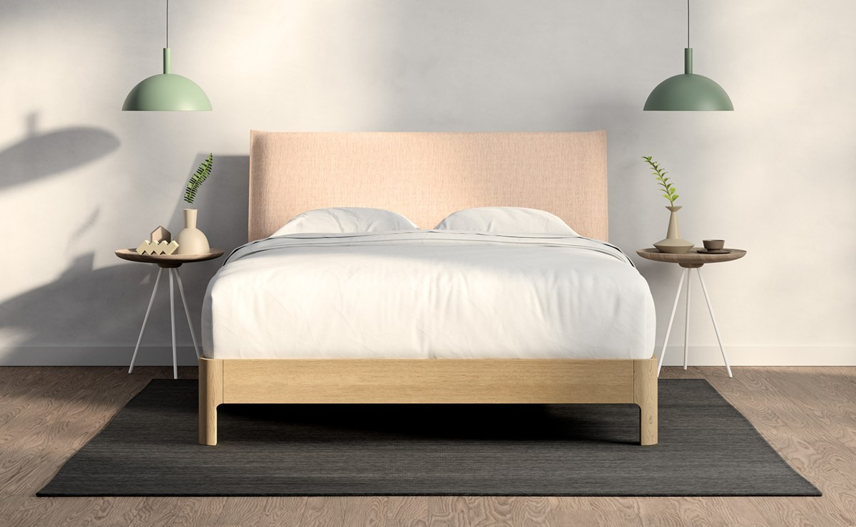 casper repose wooden bed frame with