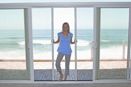 Casper Double Retractable Screen Doors Work on Sliding Glass Doors
