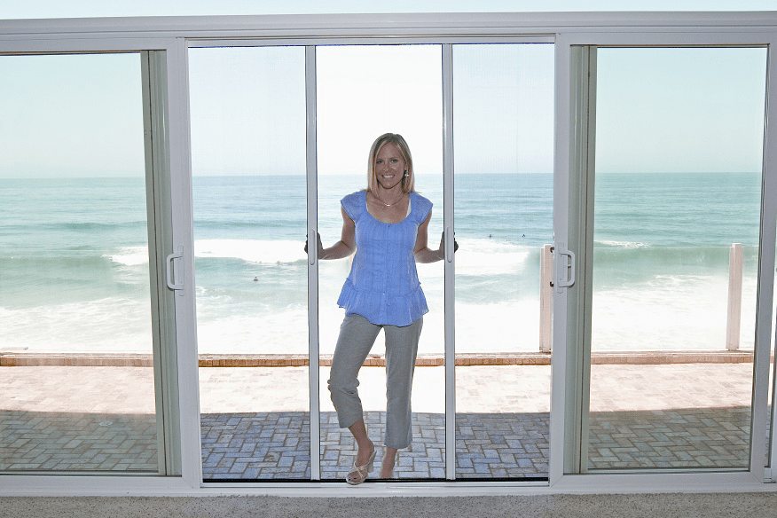 White Screen Doors casper diy self-install double retractable screen door - casper
