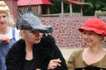 Der Böse Wolf mit Rotkäppchen