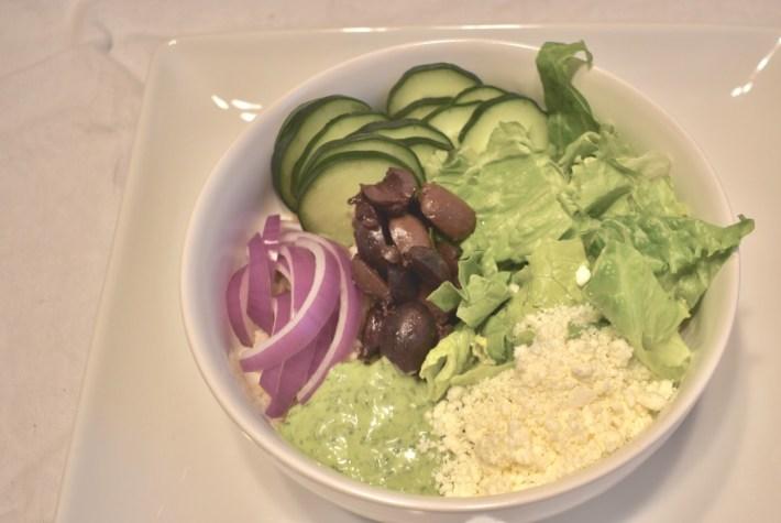 Vegetarian Mediterranean Buddha Bowl with Yogurt Dressing