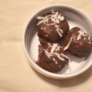 Healthy Chocolate Covered Peanut Butter Bombs