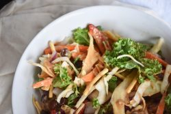 How to Make A Vegan Thai Salad with Peanut Sauce